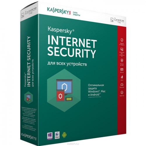 Антивирус Kaspersky Internet Security для Windows (2ПК, 1год, DVD box)