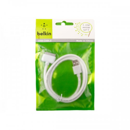Дата-кабель USB (кабель зарядки) iPhone 4/4S,  iPhone 3, iPad 2, iPod (белый)