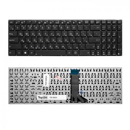 Клавиатура для ноутбука Asus X551CA, X551MA черная без рамки P/N: 0KNB0-612GRU00