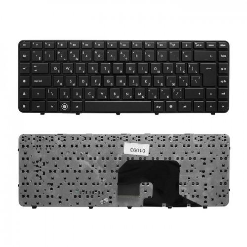 Клавиатура для ноутбука HP DV6-3000 черная, P\N: 606743-037