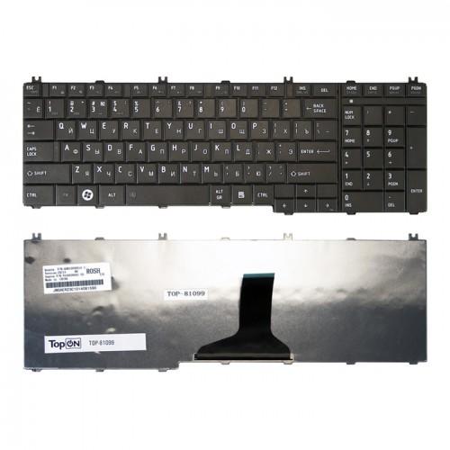 Клавиатура для ноутбука Toshiba C650, L650, L660, L755 черная, P\N: V151231AS1