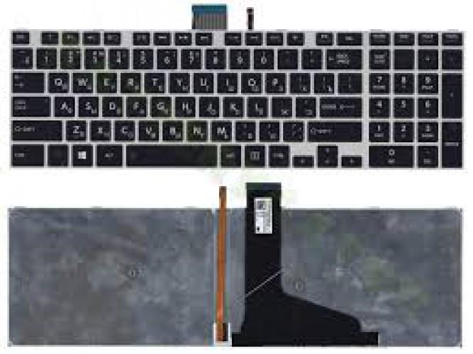 Клавиатура для ноутбука Toshiba Satellite S50 S50-A L50 (черная с рамкой, с подсветкой) P\N: 0KN0-C3