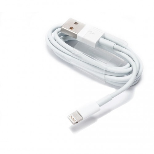 Дата-кабель USB (кабель зарядки) iPhone 6,  iPhone 5, iPad Mini, iPod Nano (белый, 1м) Оригинал тех.