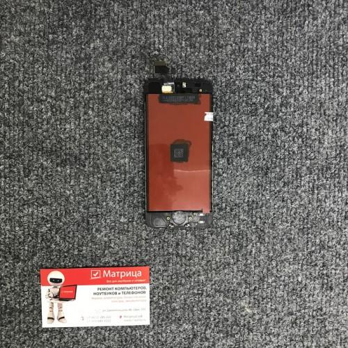 Дисплей для Apple iPhone 5 черный, в сборе с тачскрином (сенсором), AAA
