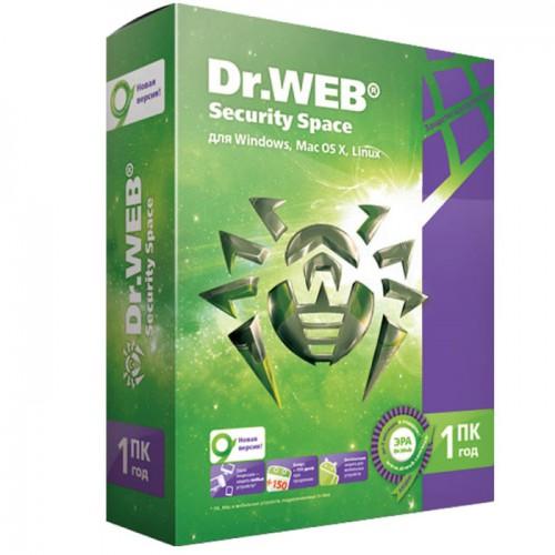 Антивирус Dr.Web Security Space Pro для Windows (электронная лицензия, 1ПК, 1 год)