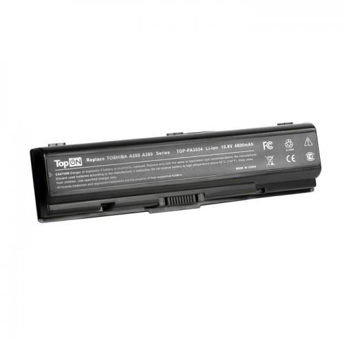 Батарея для ноутбука Toshiba A200 A300 A500 L200 L500 M200 (Аккумулятор, 10.8V, 4400mAh черная)
